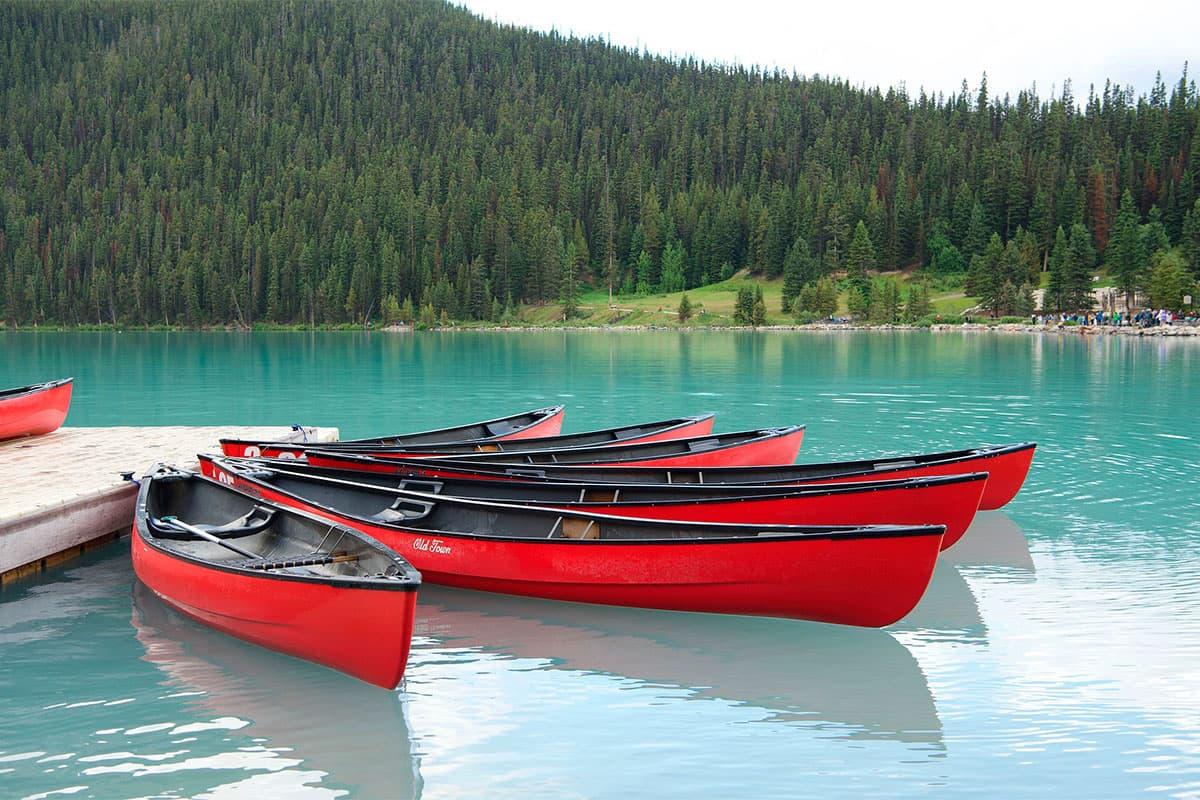 Canoa lago Louise